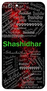Shashidhar (One Who Carries Moon (Lord Shiva)) Name & Sign Printed All over customize & Personalized!! Protective back cover for your Smart Phone : Moto E-2 ( 2nd Gen )