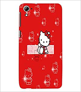 PrintDhaba Kitty D-5554 Back Case Cover for HTC DESIRE 826 (Multi-Coloured)