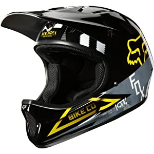 Fox Rampage Cycling Helmet, Black/Yellow, Large