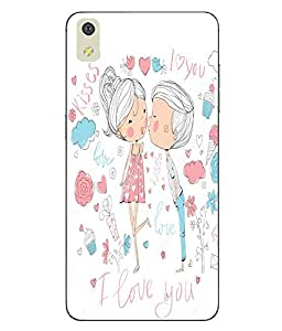 Make My Print Love Printed White Soft Back Cover For LYF WATER 8