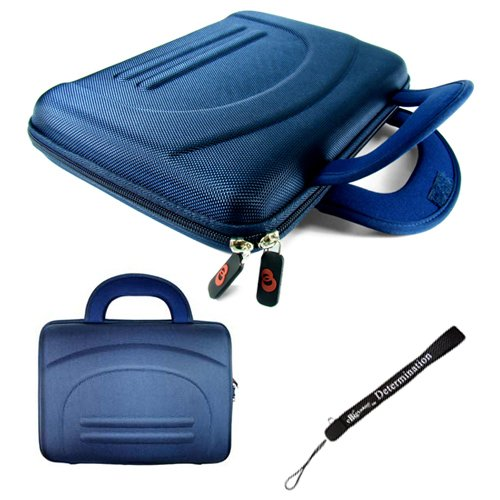 Professional Executive Deluxe Hard Nylon Business Office Case With Handles For Sony 9 Inch Portable Dvd Player Model Dvp-Fx980 + Includes An Ebigvalue Tm Determination Hand Strap