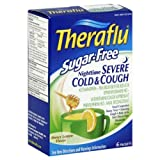 Theraflu Sugar Free Nighttime Severe Cold & Cough - Honey Lemon Flavor - 1 Box Containing 6 Packets