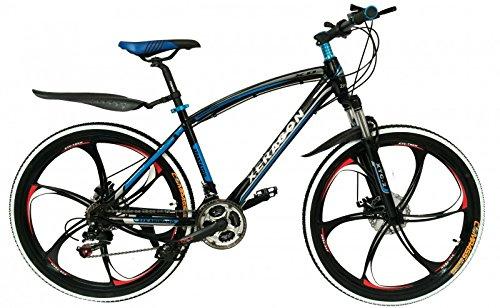 2Fast4You Xeragon - 26' Zoll Hardtail Mountainbike mit MAG Wheels , Farben:schwarz-blau