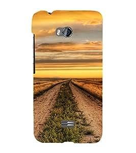 PrintVisa MICBOLTQ336-Beautiful Field Design Plastic Back Cover for Micromax Bolt Q336 (Orange)