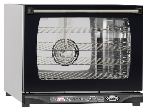 Cadco Xaf-135 Half Size Convection Oven With Digital Dynamic Controls And Humidity, 208-240-Volt/2700-Watt, Stainless/Black