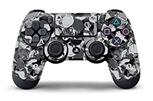 PS4 Controller Designer Skin for Sony PlayStation 4 DualShock Wireless Controller - Skull Camo