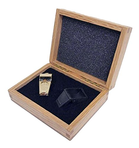 Gold Colored Brass Whistle with Wood Gift Box with Saf-T-Tip. Made in the USA! (Whistle Brass compare prices)