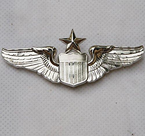 generic-usaf-us-air-force-senior-pilot-metal-wing-badge-insignia-color-silver