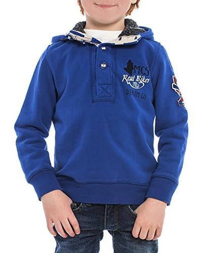 M C S Sudadera Hoodie Azul Royal