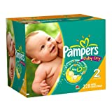 Pampers Baby Dry Diapers Economy Plus Pack, Size 2, 228 Count ~ Pampers