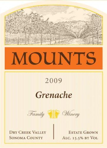 2009 Mounts Winery Estate Grenache Dry Creek Valley 750 Ml