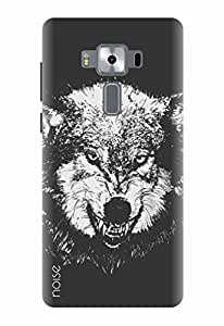 Noise Designer Printed Case / Cover for Asus Zenfone 3 Deluxe ZS570KL with 5.7 Inch screen size/ Patterns & Ethnic / Were wolf Design