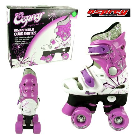 Osprey - Adjustable Quad Skates-black, White & Purple - 12j - 1