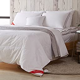 snowman white goose down comforter full queen size 100 cotton shell down proof solid white hypo all. Black Bedroom Furniture Sets. Home Design Ideas