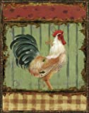 Rooster Portraits III by Daphne B. French Country Kitchen Decor 11x14 in. Art Print