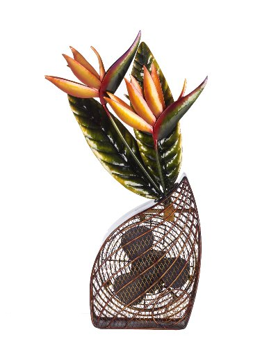 Deco Breeze Decorative Figurine Table Fan, Bird of Paradise, 24-Inch Tall by 13-Inch Wide
