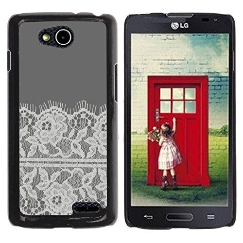Slim Design Hard PC/Aluminum Shell Case Cover for LG OPTIMUS L90 / D415 Flowers Crocheted Fabric Sewing / JUSTGO PHONE PROTECTOR