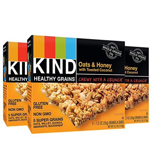 KIND Healthy Grains Granola Bars, Oats & Honey with Toasted Coconut, Gluten Free, 1.2oz Bars, 15 Count (Honey Bar compare prices)