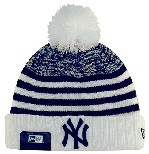 New Era Mlb Stripe Bob Neyyan Sfpnvy - Berretto Linea New York Yankees da uomo, colore Bianco, taglia OSFA