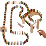 Traditional Wooden Domino Rally or Ra...