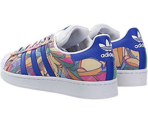 Adidas Originals Women's Superstar W Fashion Sneaker, Lab Blue/Lab Blue/White, 7 M US