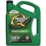 Quaker State 550038290 Advanced Durability 5W-20 Motor Oil (SN/GF-5) 5qt jug
