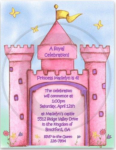Princess Castle Birthday Party Invitations - Set of 20