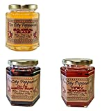 Instilled with Spirits! Ch Ch Cherry Bomb, Bourbon Blaze, Tipsy Tomato - Mini Trio Pepper Jelly By Rose City Pepperheads - St Patricks Day, Get Well, Birthday, Hostess Gift