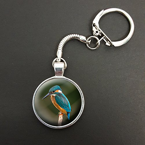kingfisher-pendant-on-a-snake-keyring-ideal-birthday-gift-n110