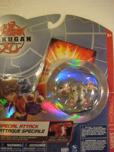 Buy Low Price Spin Master Bakugan Battle Brawlers Heavy Metal Series 1 Special Attack Pack White Hydranoid Figure (B001OAN67Y)