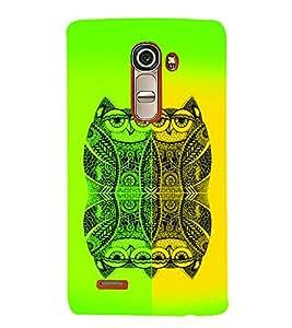 PrintVisa Birds Modern Art Owl 3D Hard Polycarbonate Designer Back Case Cover for LG G4 Mini