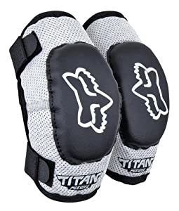 FOX Racing MX PeeWee Titan Youth Elbow Guard Black Silver