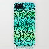 Society6/ソサエティシックス iPhone5 Case Teal Swirlies