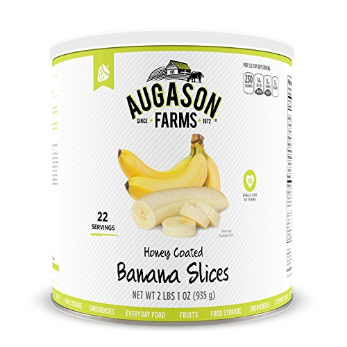Augason Farms Honey Coated Banana Slices 33 oz #10 Can (Fruit Cans compare prices)