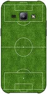 Snoogg football field Hard Back Case Cover Shield ForSamsung Galaxy J1