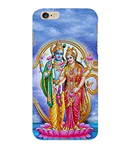 ColourCraft Lord Vishnu with Maa Laxmi Design Back Case Cover for APPLE IPHONE 6S PLUS