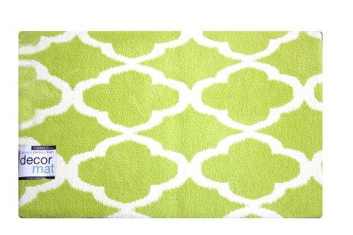 Fabbrica Home Designer Decor Mat With Hd Memory Foam-Quatrefoil -Spring Green front-850831