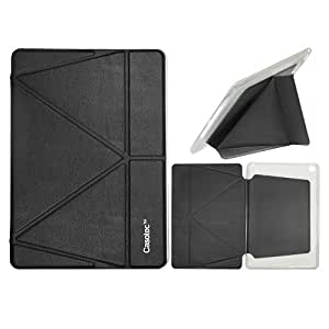 Casotec Premium Leather Smart Cover Case With 5 Shapes Magnetic Stand Case Cover for Apple iPad Air 2 - Black