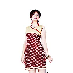 Kaya Women's Cotton Kurti (005KUCO008_Multi-Coloured_X-Large)