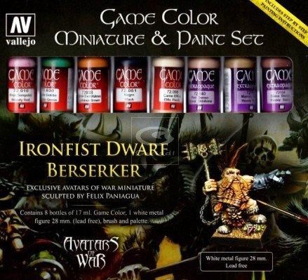 Vallejo Dwarf Berserker and Paint Set