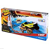 Team Hot Wheels Yellow Driver Extreme Stunt V-Drop Jump Car Track Set Rare Toy