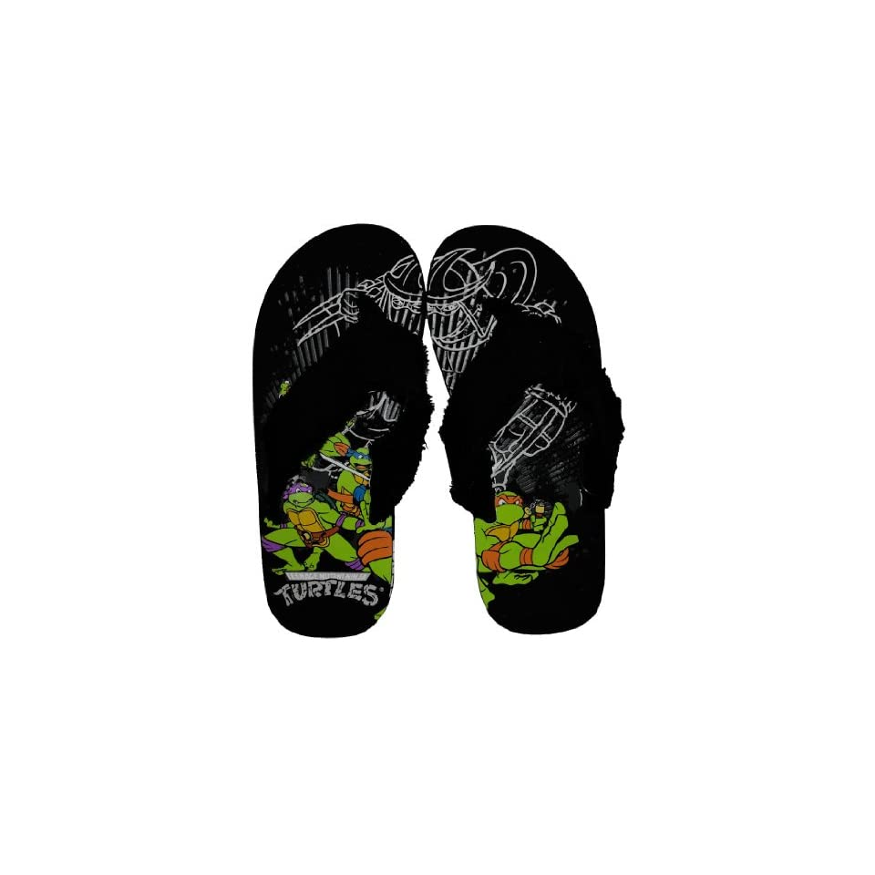 Turtles TMNT Turtle Power Shredder Beach Sandals Flip Flops: Shoes