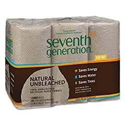 Seventh Generation 13737 Natural Unbleached 100% Recycled Paper Towel Rolls, 11\