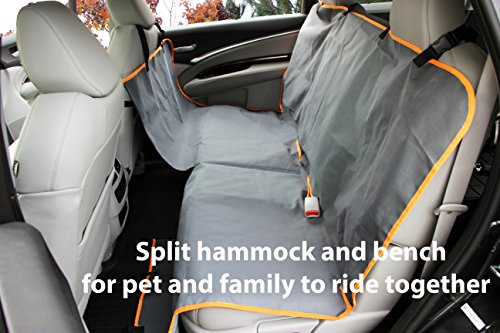 Dog Car Hammock – Back Seat Cover for Dogs – Waterproof – Use Mat on ...