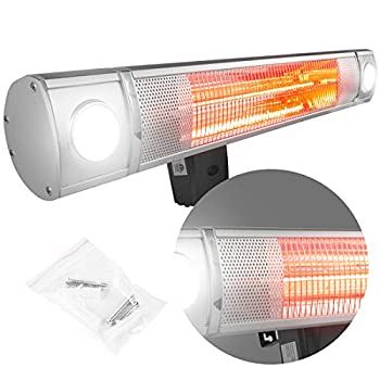 XtremepowerUS Wall-mounted Infrared 1500 Watt Heater, 28