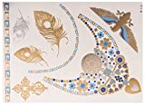 Sky Gold Sheet no. 3 de POSH TATTOO ||| Metallic Tattoo | Flash Tattoos | La nueva moda de Hollywood