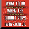 What to Do When the Bubble Pops: Personal and Business Strategies for the Coming Economic Winter Speech by Harry S. Dent Jr. Narrated by Harry S. Dent Jr.