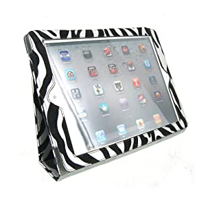 Portfolio Leather Case for iPad 2 2nd Generation Animal Series - [Metallic Zebra Print] with Built-in Stand + Screen Protector