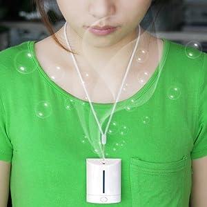 19Beauty ® Trump XP: Portable mini rechargeable negative ion air purifier on neck
