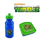 Teenage Mutant Ninja Turtles Kids 2 Piece Reusable Lunch Container Kit - TMNT Pull Top Water Bottle